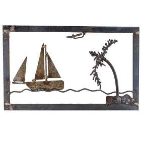 Boat Framed with Palm