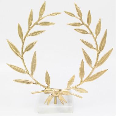 Olive Wreath Brass